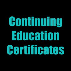 Continuing Ed Certificates