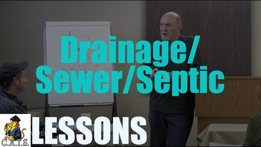 Lesson: Drainage/Sewer/Septic