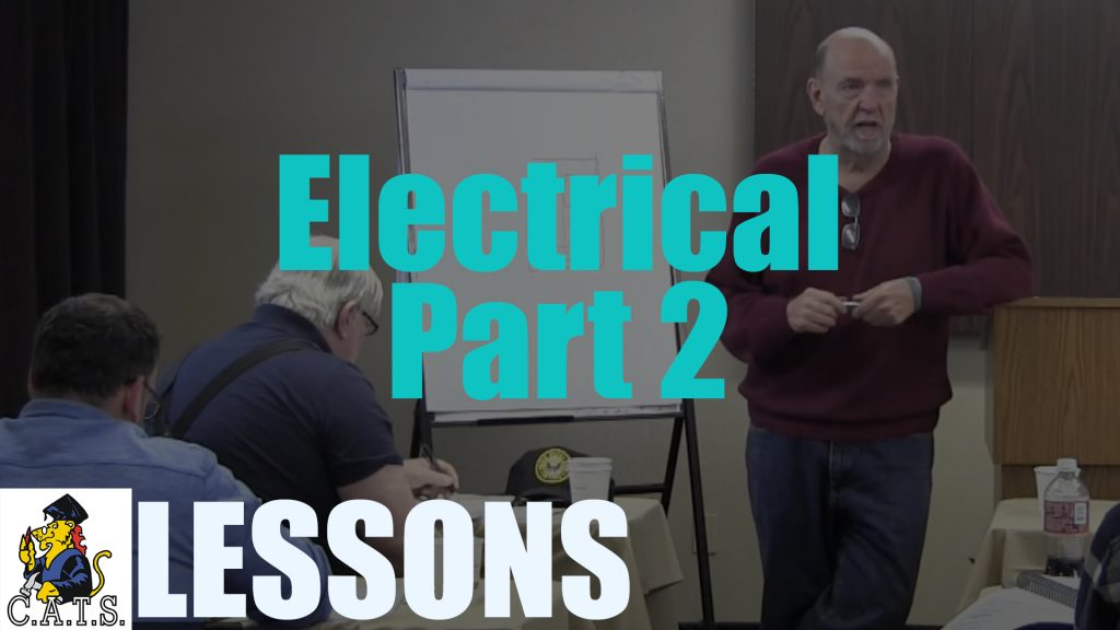 Lesson: Electrical – Part 2