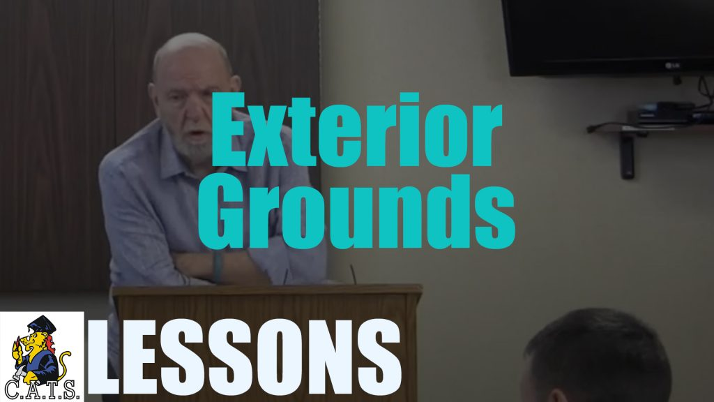Lesson: Exterior Grounds